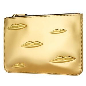 3/$36 - New! NARS gold cosmetic makeup case lips